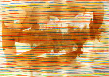 Abstract lines. Grunge style. Hand drawn. Mixed media artwork Royalty Free Stock Photo