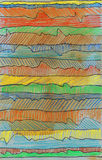 Abstract lines. Grunge style. Hand drawn. Mixed media artwork Royalty Free Stock Image