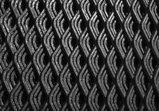 Abstract lines of industrial metal mesh pattern. Stock Image