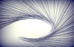 Abstract lines isolated on a back ground Royalty Free Stock Photo