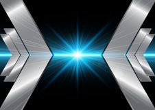 Abstract  lines with light and arrow  backgound. illustrat Royalty Free Stock Image