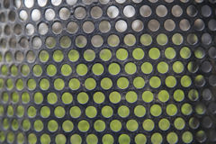 Abstract lines and metal mesh Pattern green grass background Stock Photography