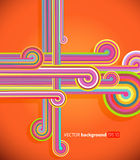 Abstract lines with orange background. Royalty Free Stock Photography