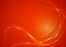 Abstract Lines on Orange Background Royalty Free Stock Image
