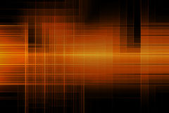 Abstract lines orange color geometric shape glowing in dark background Royalty Free Stock Images