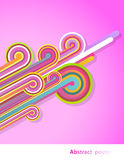 Abstract lines with pink background. Royalty Free Stock Images