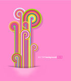 Abstract lines with pink background. Royalty Free Stock Image