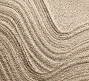 Abstract lines on sand Stock Images