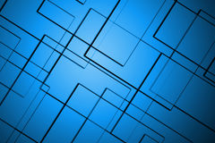 Abstract lines square blue background Royalty Free Stock Image