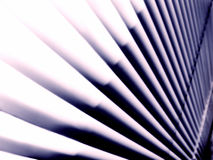 Abstract Lines Stark Blinds. Stark contrast yet soft lines and shades are abstract lines of a mini blind in afternoon light Royalty Free Stock Photo