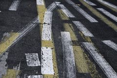 Abstract lines on Street Stock Image