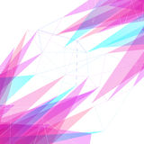 Abstract lines and triangles bright background Stock Images