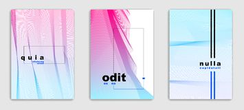 Abstract lines vector minimal modern brochures design set, cover. Templates, geometric halftone gradient. For Banners, Placards, Posters, Flyers. Beautiful and vector illustration