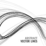 Abstract lines. Abstract vector wave background. Digital line illustration with template text. Monochrome motion desigh. Technology concept. Futuristic element Stock Images