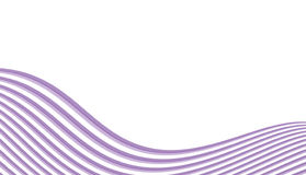 Abstract lines in waveform. Purple abstract lines in waveform illustration Stock Images