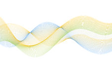 Abstract lines wavy bright background Stock Photography