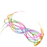 Abstract lines on white background. Multicolored abstract lines on white background Royalty Free Stock Images