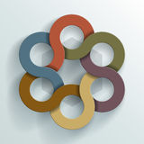 Abstract Linked Circles Stock Image