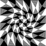 Abstract liny, checkered pattern. With distortion effect- Royalty free vector illustration Stock Image