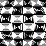 Abstract liny, checkered pattern. With distortion effect- Royalty free vector illustration Stock Photos