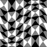 Abstract liny, checkered pattern. With distortion effect- Royalty free vector illustration Royalty Free Stock Image