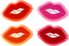 Abstract lips background Royalty Free Stock Photography