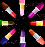 Abstract lipsticks Royalty Free Stock Images