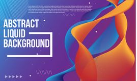 Abstract liquid background colorful stock illustration