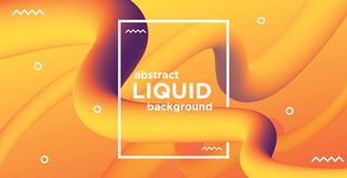 Abstract liquid banner background molecular style royalty free illustration