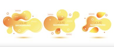 Abstract liquid banner background vector illustration