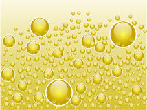 Abstract liquid bubbles stock illustration