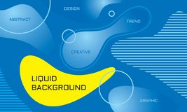 Abstract liquid color background - vector illustration. Landing page template. Concept creative banner layout. Art design poster. Fluid gradient shapes. Trendy stock illustration