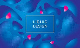 Abstract liquid color background - vector illustration. Landing page template. Concept creative banner layout. Art design poster. Fluid gradient shapes. Trendy royalty free illustration