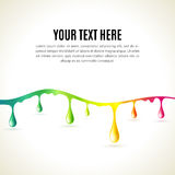 Abstract liquid colored drops. Business presentation concept Royalty Free Stock Photos