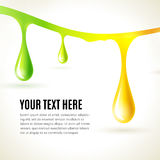 Abstract liquid colored drops. Business presentation concept Stock Photo