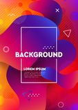 Abstract liquid colors background. Fluid shapes vector trendy gradients. Colorful graphic illustration. Geometric background molecule communication stock illustration