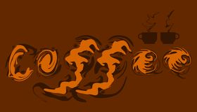 Abstract liquid element coffee creams character. take a break with your favorite drink.  vector illustration eps10. Abstract liquid element coffee creams royalty free illustration