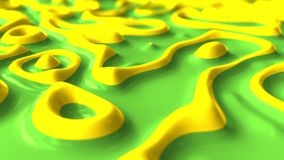 Abstract liquid green and yellow paints. 3D rendering. Abstract liquid green and yellow paints 3D rendering Stock Photos