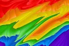 Abstract Liquid Painting Background. Watercolor Rainbow. Hand Drawn, Liquid Texture. Colorful. Red, Orange, Yellow royalty free stock photography