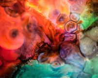 Abstract liquid painting with texture Stock Photos
