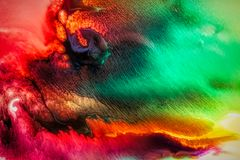 Abstract liquid painting with texture Stock Image