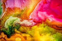 Free Abstract Liquid Painting With Texture Stock Images - 99856854