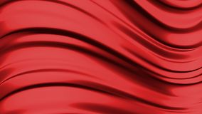 Abstract liquid red background. 3D rendering Royalty Free Stock Photography