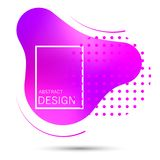 Abstract liquid shape gradient. royalty free illustration