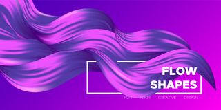 Abstraction with Wave Liquid Shapes. stock illustration