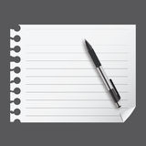 Abstract list blanc with pen  Royalty Free Stock Photography