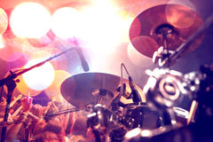 Abstract live music background.Public and drum Royalty Free Stock Photos