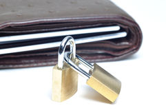 Abstract lock your wallet Stock Images