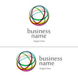 Logo ball of yarn. Abstract logo ball of multicolored threads Royalty Free Stock Photography