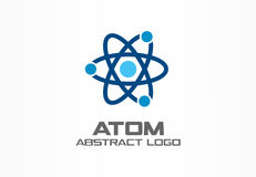 Abstract logo for business company. Corporate identity design element. Infinity atom energy, orbit connect, nuclear. Reactor core, nuclear logotype idea Stock Illustration